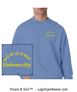 Champion Adult Double Dry Eco Crewneck Sweatshirt Design Zoom