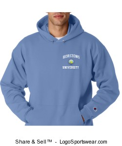 Champion Men's 9 oz. Double Dry Eco® Hooded Sweatshirt Design Zoom